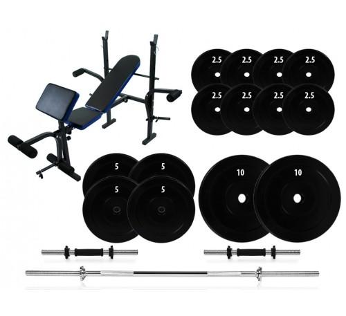 Лавка 7F L310 + Штанга + гантелі 72 кг